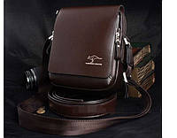 Красивая мужская кожаная сумка Kangaroo Kingdom. Сумка через плечо. Барсетка.