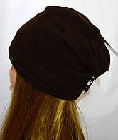 Женская шапка с кнопкой, фото 1