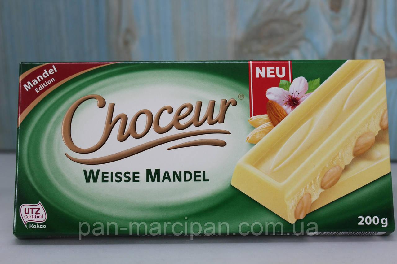 Шоколад Choceur Weisse Mandel 200г