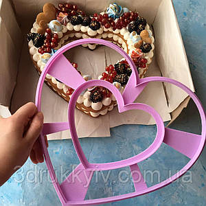Вирубка ТОРТ - СЕРЦЕ 24х26.5см. / Вырубка - формочка для торта - сердца, коржей 24 см. / Торт - сердце