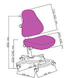 Універсальний комплект для дитини парта FunDesk Amare II Grey + ортопедичне крісло FunDesk Bravo Purple, фото 10