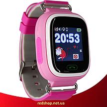 Детские Умные часы с GPS Smart baby watch Q90 розовые - Детские смарт часы-телефон с трекером и кнопкой SOS, фото 3