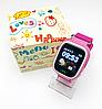 Детские Умные часы с GPS Smart baby watch Q90 розовые - Детские смарт часы-телефон с трекером и кнопкой SOS, фото 5