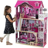 Кукольный домик.Домик для кукол вилла Барселлона.Домик кукольный с мебелью+кукла