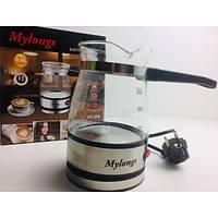 Электрическая турка Mylongs стеклянная кофеварка 0,5л 600 Вт (KF-008)