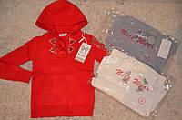 Вязаный  свитер с капюшоном  для девочек 4-12 лет
