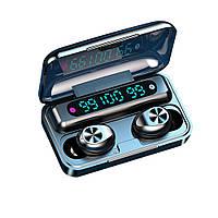 Bluetooth наушники F9 Беспроводные - LED Display. Power Bank Индикатор заряда.F9/2020