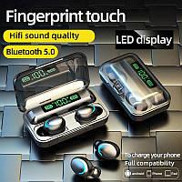 Bluetooth наушники F9 Беспроводные - LED Display. Power Bank Индикатор заряда/5/0