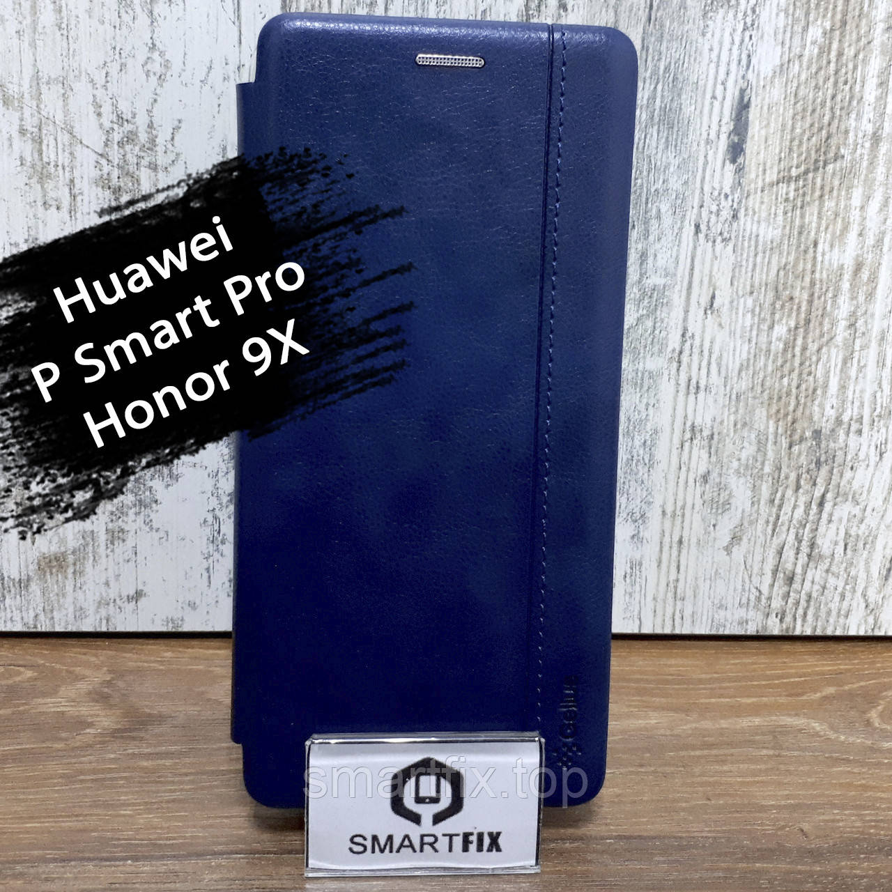 Чехол книжка для Huawei P Smart Pro / Honor 9X Gelius Синий