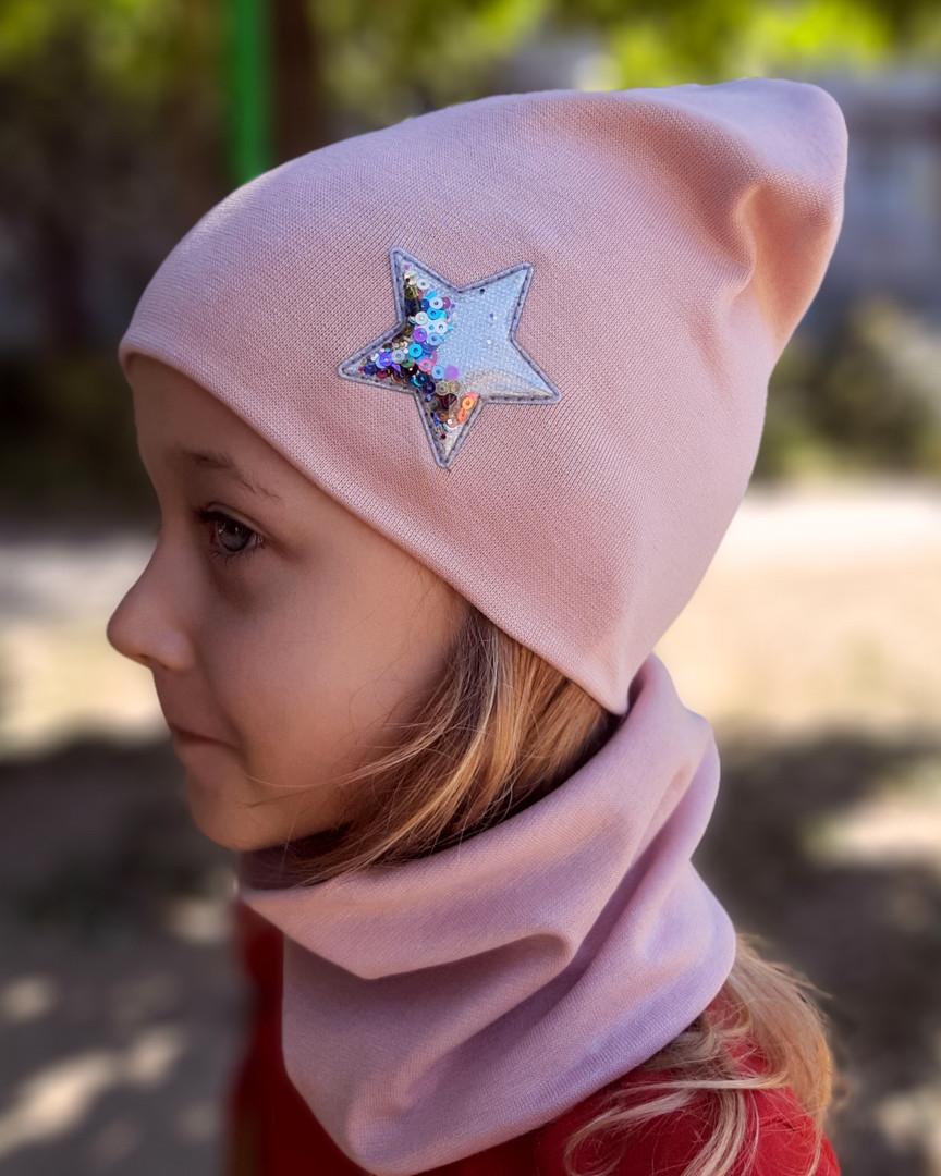 Детская трикотажная шапка. Шапочка для девочки