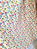 Ткань хлопковая мелкие цветочки, фон молочный, фото 2