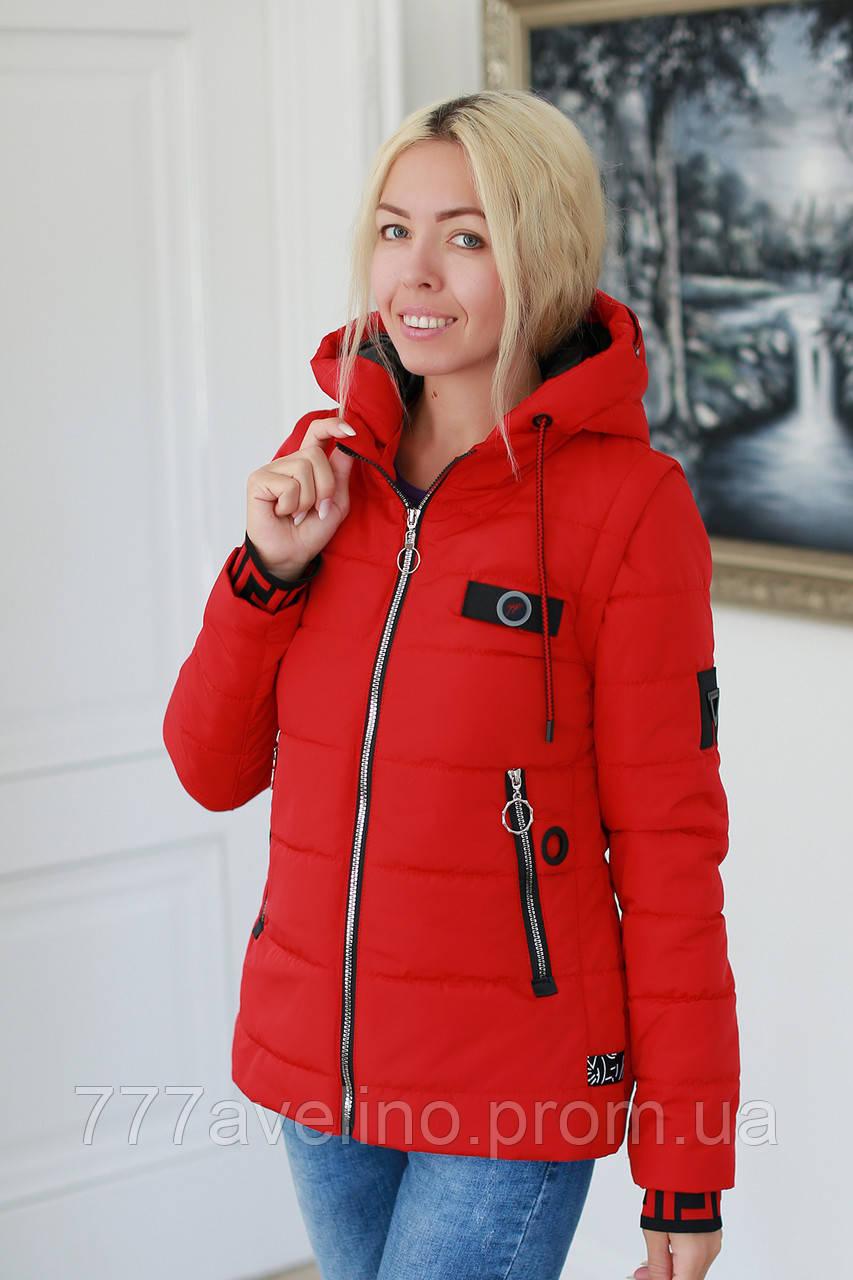 Куртка жіноча демісезонна трансформер в жилет (розміри з 44 по 50)