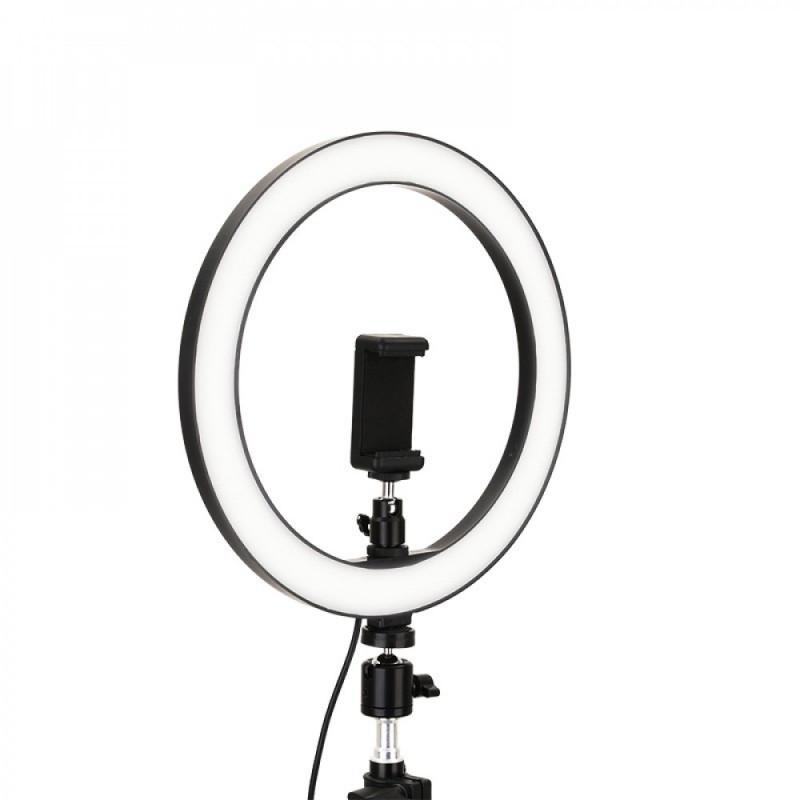 Кольцевая светодиодная LED Лампа 20 см.  с зажимом для телефона