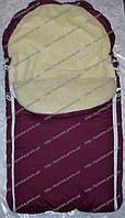 Детский конверт зимний меховой для малышей в коляску, санки