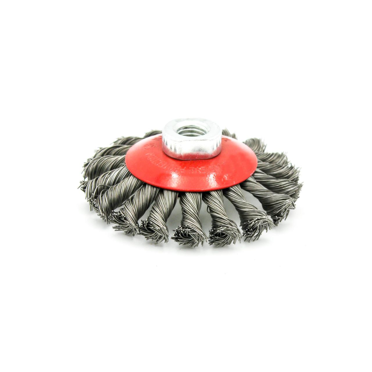Щітка-крацовка Бригадир Standart 14-1002 дискова плетена М14 100мм 22-030