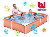 Детский каркасный бассейн Bestway 56219 Зелёный (221х150х43см.)