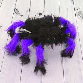 Павук волохатий, малий кольоровий на Хелловін, 30 см, Паук декоративный цветной на Хэллоуин