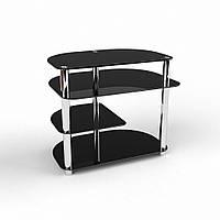 """Компьютерный черный стеклянный стол """"Амальтея"""", фото 1"""