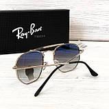 Мужские солнцезащитные очки авиаторы Rb (3648), фото 3