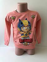 """Реглан """"BrawlStars"""" для девочки 1-4 года. 2 нитки тонкий начес, фото 1"""