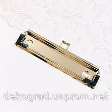 Механизм зажима 120*30мм серебро с уголками