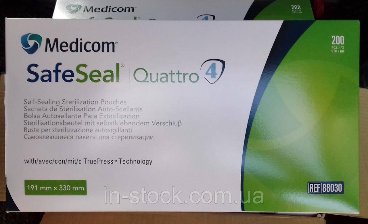Самоклеючі пакети для стерилізації Safe Seal®Quattro (191x330мм)