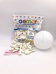 """Кульки 5"""" 13 см білий 100 шт"""