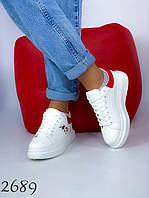 Женские модные белые кроссовки 36,37,38 размер