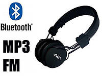 Модные беспроводные Bluetooth наушники с микрофоном и MP3 плеером NIA-X2 радио блютуз Black