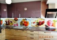 Скинали - фартук из стекла на кухню (рабочая стенка кухни из стекла)
