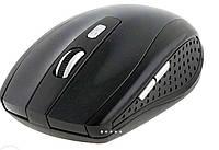 Мышка компьютерная беспроводная  черная, 5 кнопок