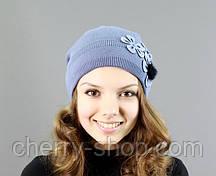Шапка женская - 2112 - синий