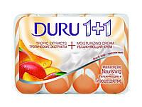 Мыло DURU 1+1 Крем+Тропические Фрукты 4*90гр