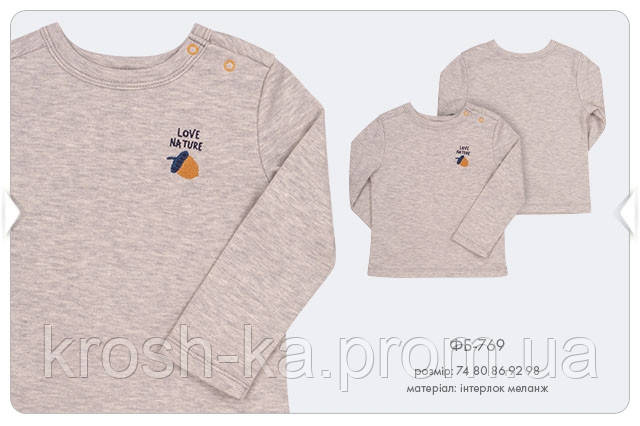 Реглан для мальчика серый меланж (92,98)р (Bembi)Бемби Украина ФБ769