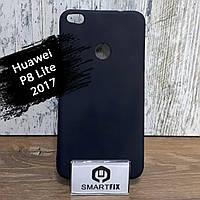 Силіконовий чохол для Huawei P8 Lite 2017 Чорний, фото 1