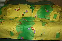 Желто-зеленая абстракция  1,5 ка (100% хлопок)