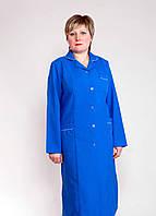 "Рабочий халат женский ""Health Life"" габардин синий 1115"