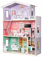 Кукольный домик Канди.Дом для кукол с лифтом+мебель ECOTOYS