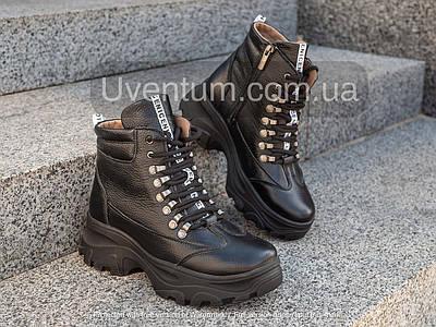 Ботинки женские кожаные осенние   36-40 черный