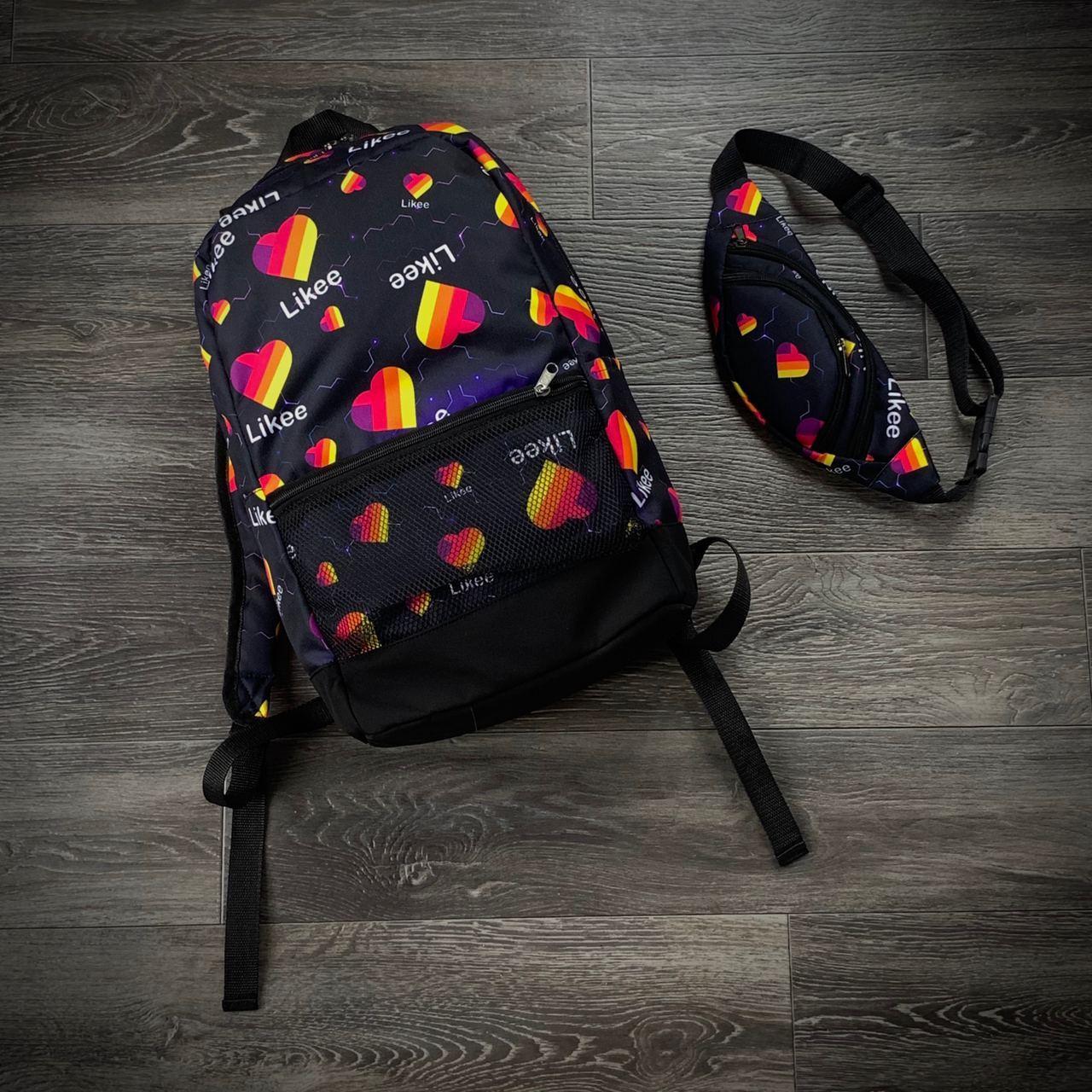 Комплект рюкзак Intruder Likee + бананка Темно-синий (1597922865)