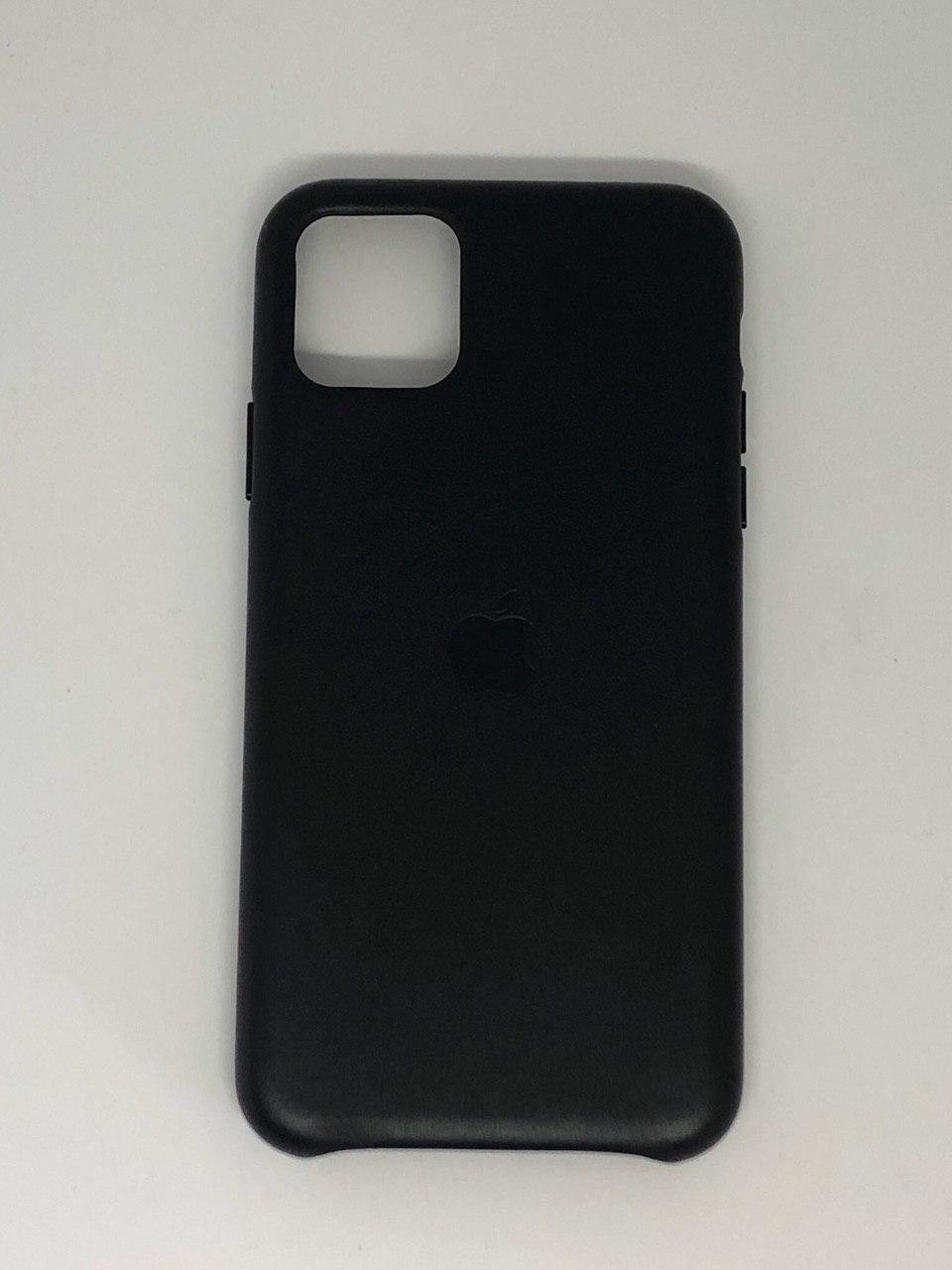 """Кожаный чехол на iPhone 11 Pro """"Черный"""""""