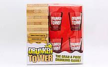 Дженга пьяная башня Drunken Tower Jenga деревянные блоки-60шт, стопки-4шт, фото 2