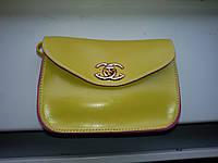 Сумка женская кожзам желтого цвета, клатч, сумочка-клатч с плечевым ремнем