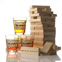 Дженга пьяная башня Drunken Tower Jenga деревянные блоки-60шт, стопки-4шт, фото 3