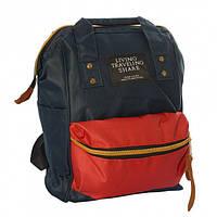 Сумка-рюкзак женская Teenage Backpacks вместительная и стильная MK 2877 Синий