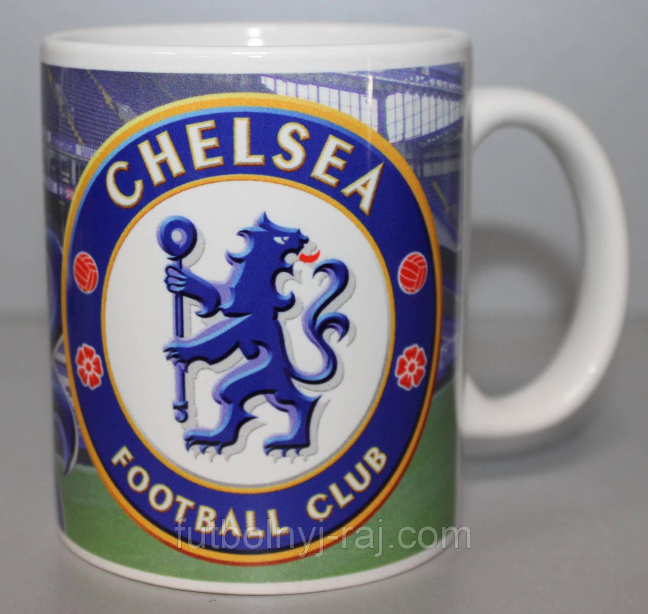 Футбольна Чашка чайна з зображенням символіки FC Chelsea