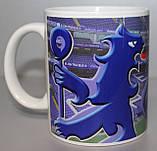 Футбольна Чашка чайна з зображенням символіки FC Chelsea, фото 2