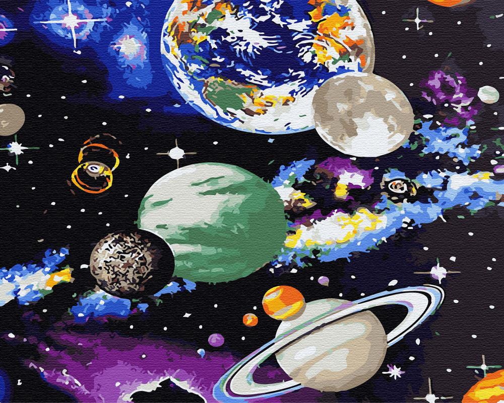 Картина по номерам  Космос без коробки, 40*50 см