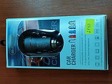 Авто адаптер in Fast Car Charger JHY-01 2USB Port 2.1 A +1A (упаковка)