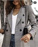 Пиджак женский серый в клетку 42-44, 46-48, фото 5